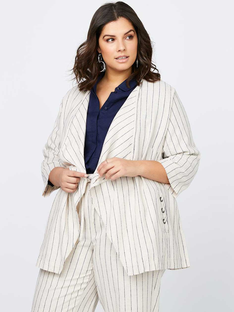 Stripe Linen Jacket - In Every Story