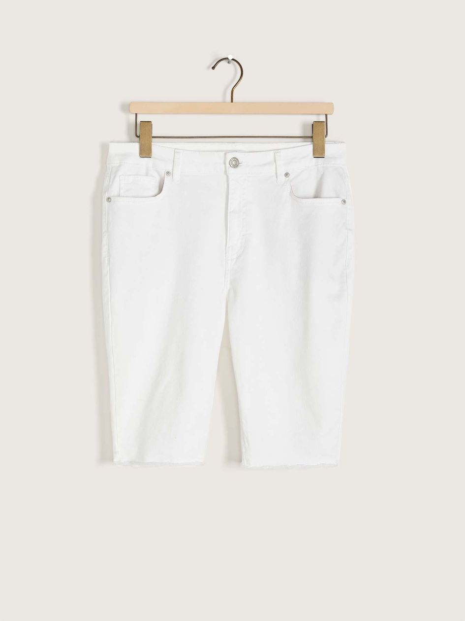 White Denim Biker Short - Addition Elle