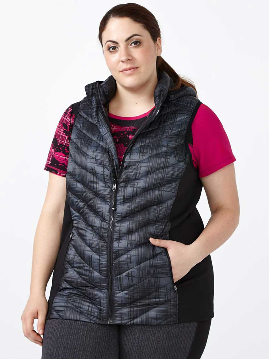 ActiveZone Printed Plus-Size Packable Vest