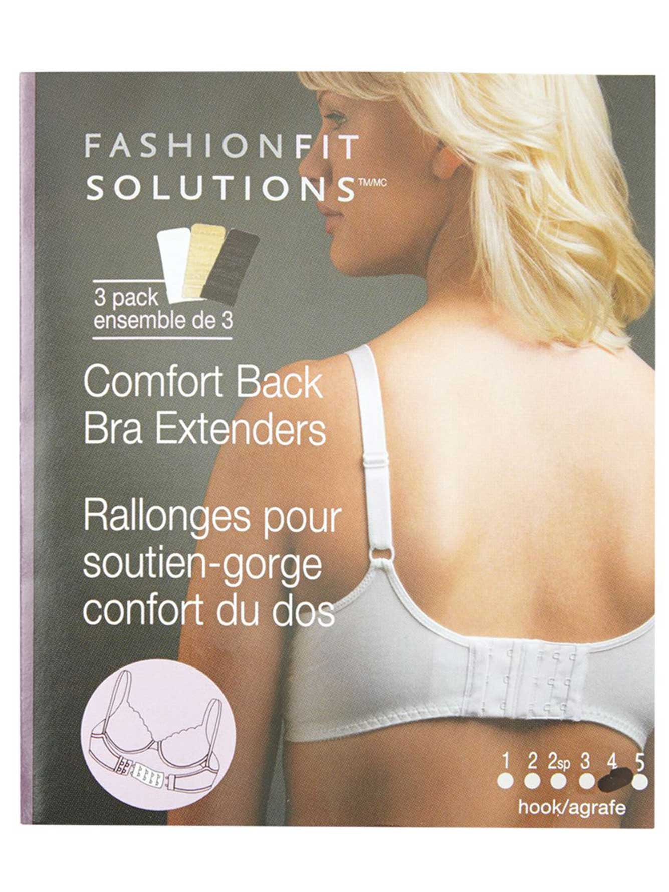 4-Hook Bra Extender (Set of 3)