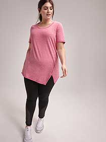 Plus Size Asymmetrical Printed T-Shirt - ActiveZone