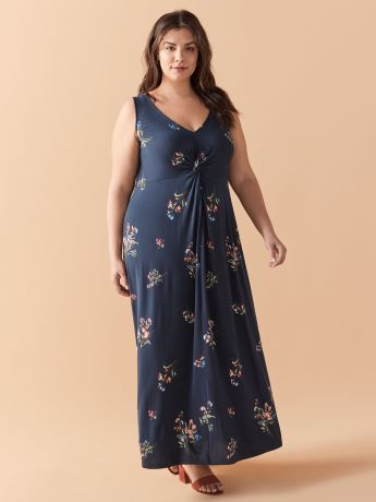 Printed V-Neck Maxi Dress - In Every Story