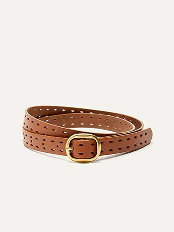 Double Perforated Leather Belt