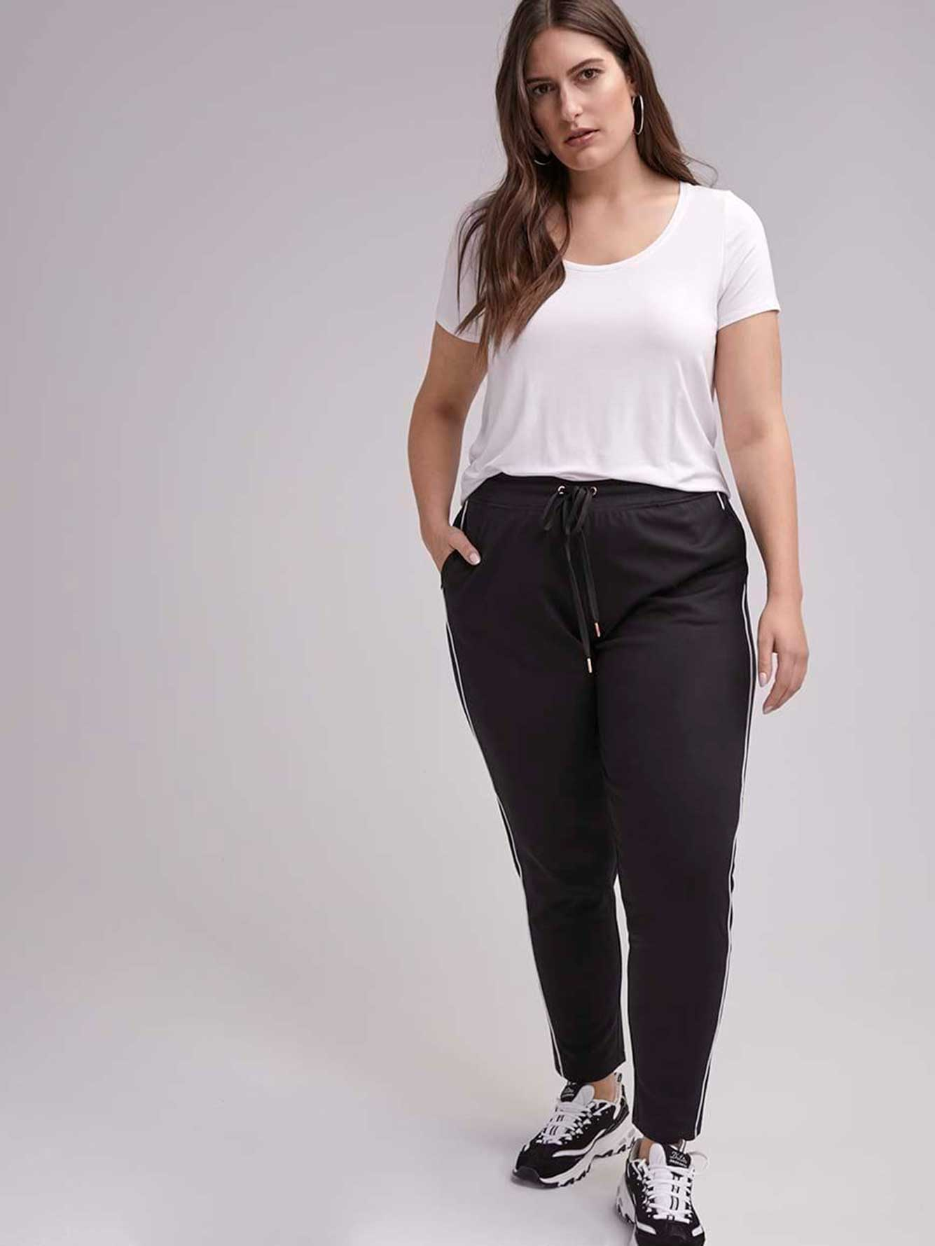 50ea08dfce3e3 Tall Plus Size Side-Striped Relaxed Pant - ActiveZone