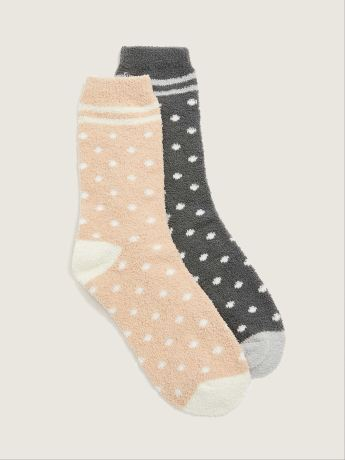 2-Pack Fuzzy Socks - Addition Elle