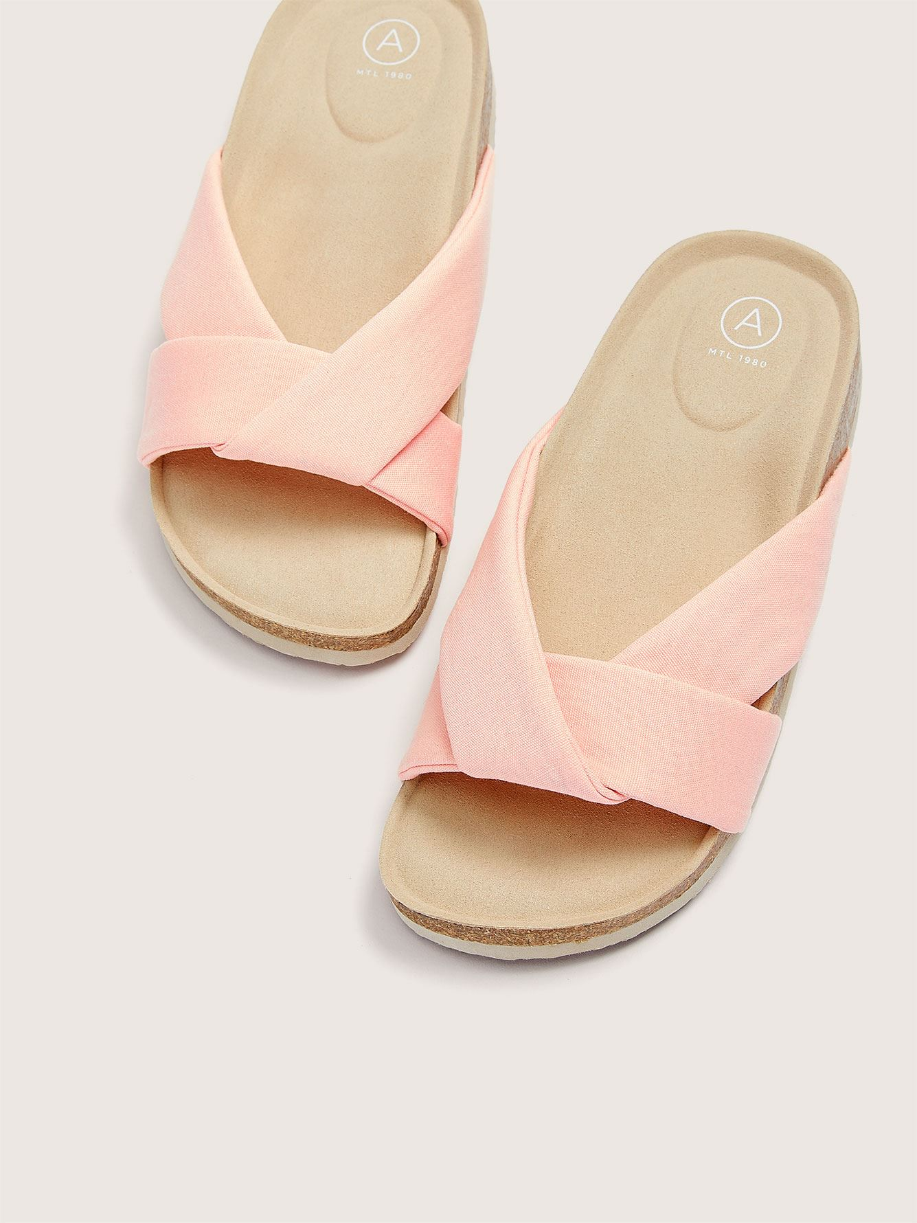 Wide Cotton Canvas Sandal - Addition Elle