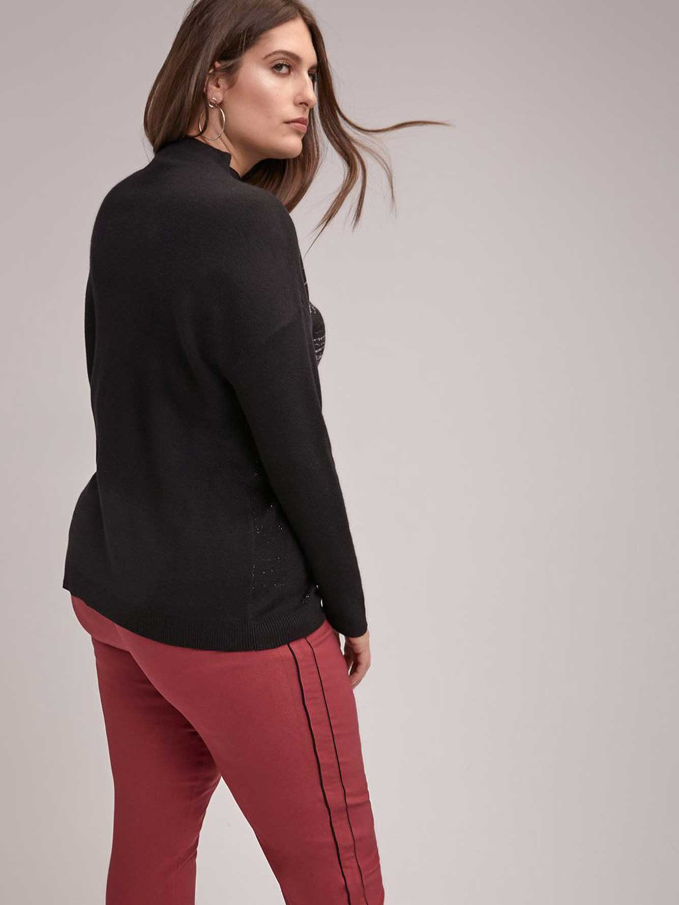 Long Sleeve Sweater with Lurex Detail - In Every Story