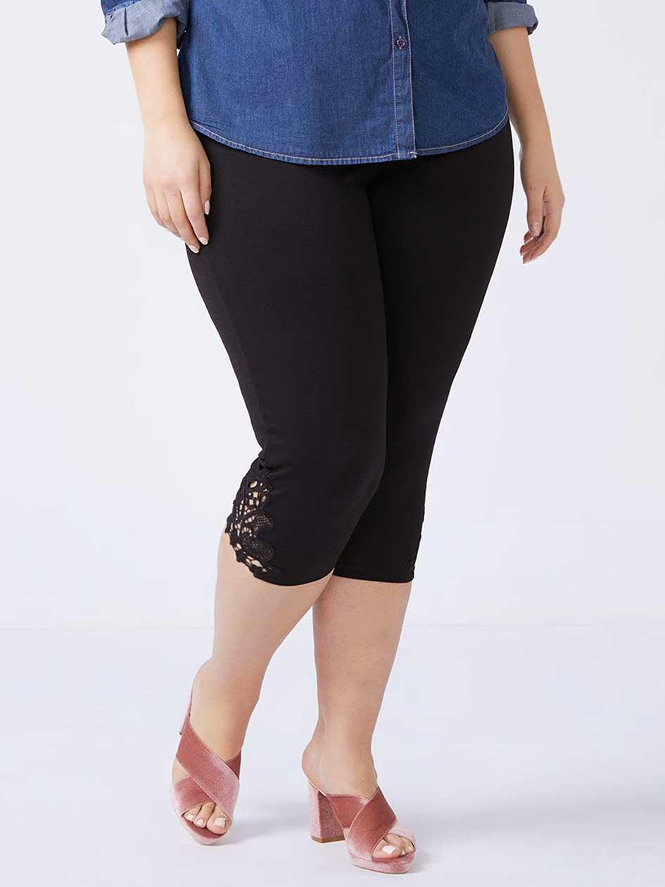Capri Legging with Lace Detailing
