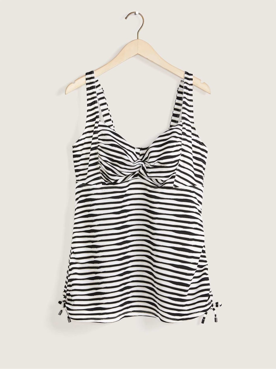 Underwire Tankini Top With Twisted Front - In Every Story