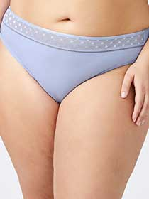 High Cut Brief Panty with Mesh - ti Voglio