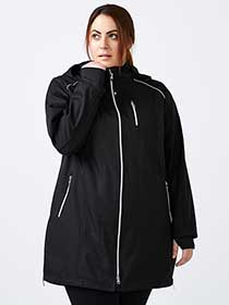 ActiveZone - Plus Size Soft Shell Hooded Jacket