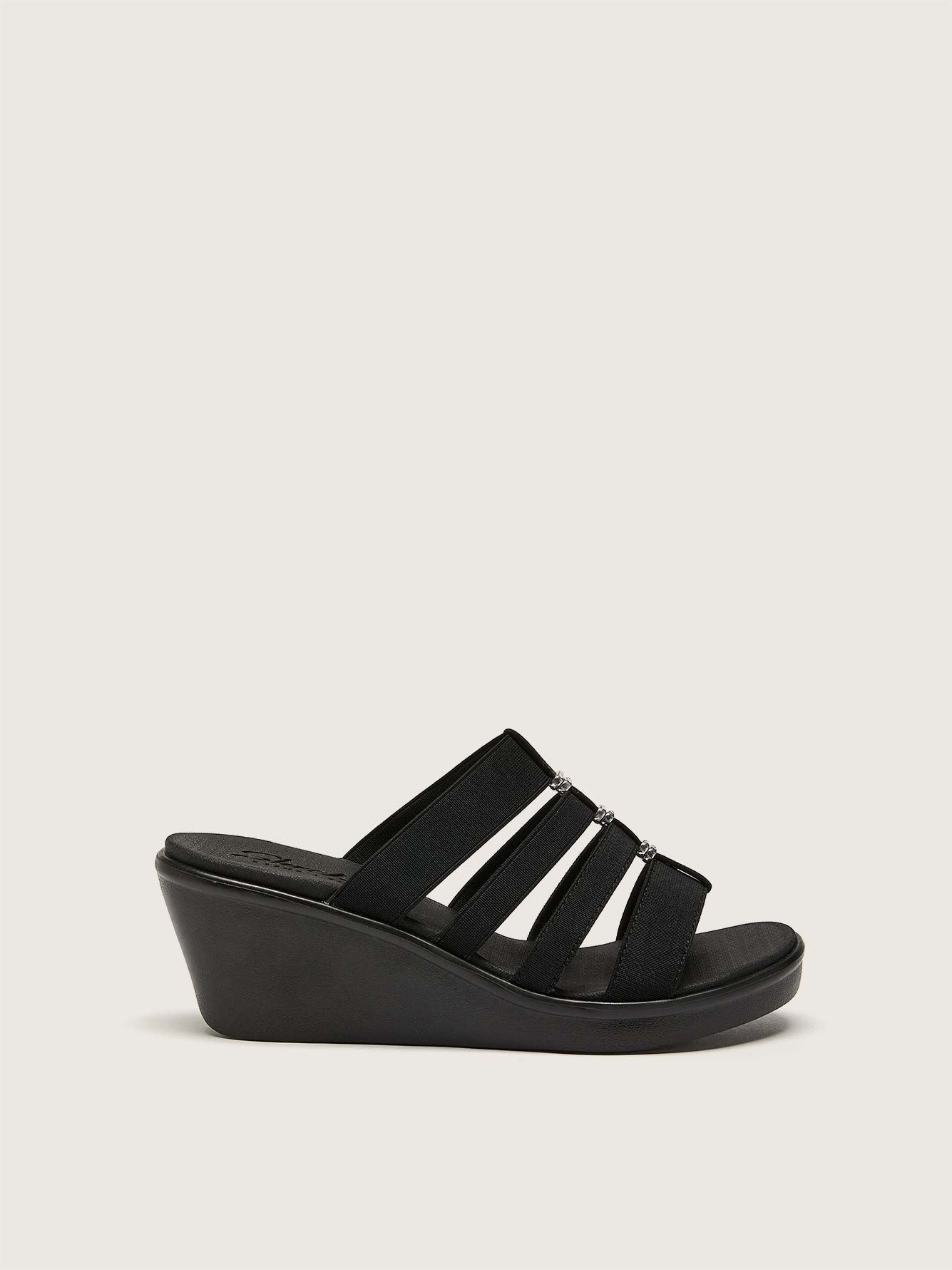 Wide Strappy Wedge Sandal - Skechers