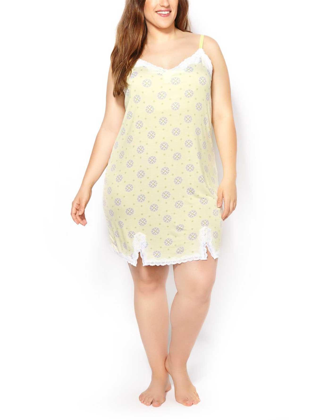 Ti Voglio Sleeveless Printed Sleepshirt with Lace  36094fb77