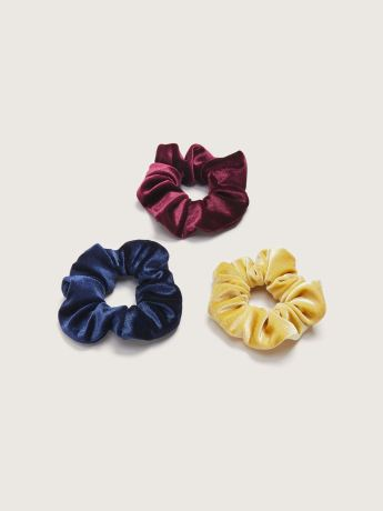 Velvet Hair Scrunchies, 3-Pack - Addition Elle