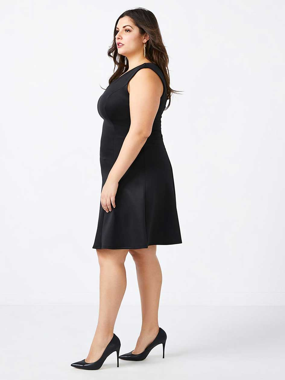 Fit and Flare Black Dress - In Every Story