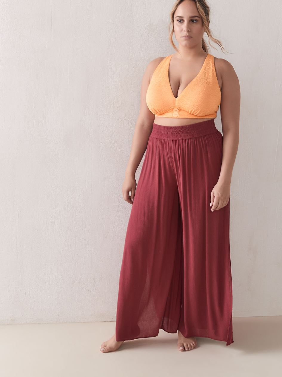 Wide Leg Cover-Up Pants - Addition Elle