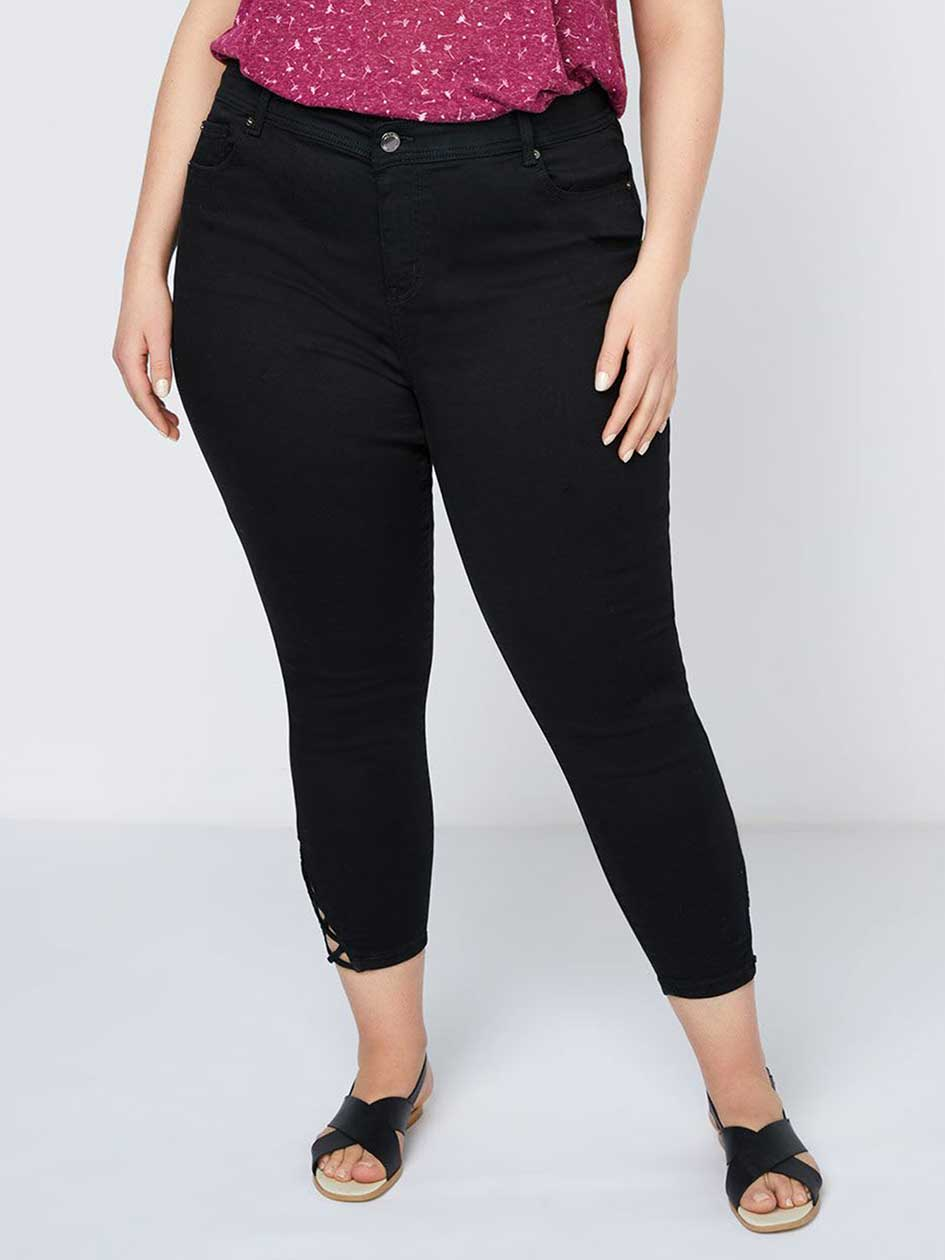 Straight Fit Skinny Leg Denim Capri - d/C JEANS