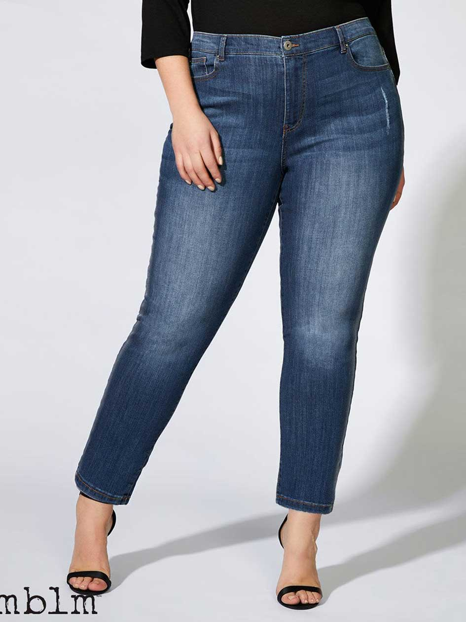 Straight Leg Girlfriend Jean with Metallic Paint - mblm