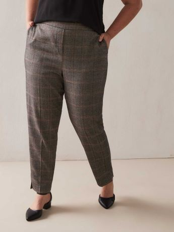 Plaid Oxford Pants - Addition Elle
