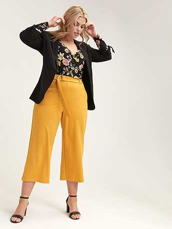 Belted Wide Leg Pull-On Pant - L&L