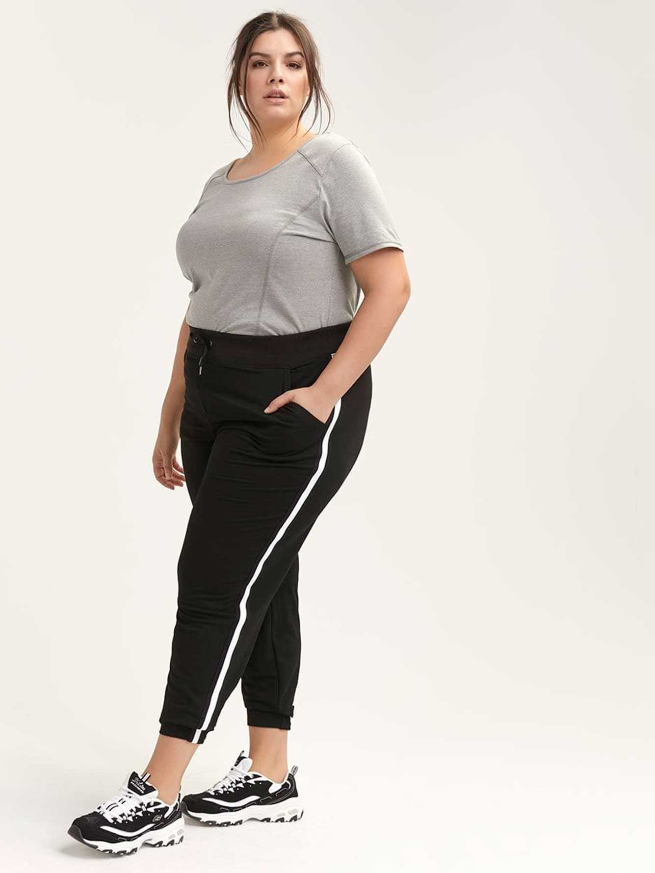 Plus Size Jogger Pant with Side Stripe - ActiveZone