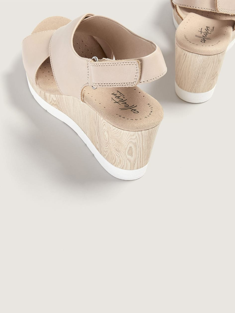 Wide Wedge Cammy Pearl Sandals - Clarks