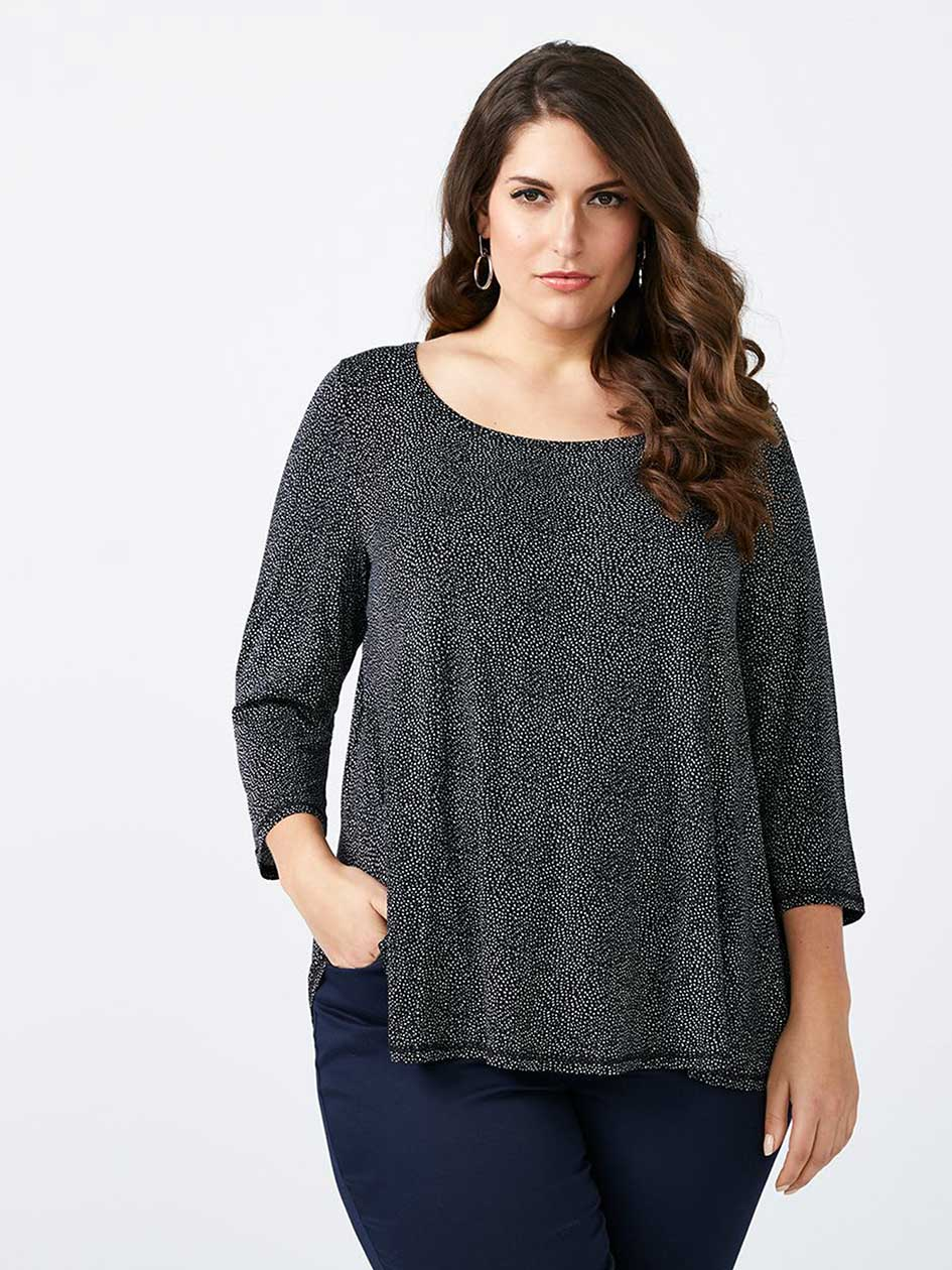 Printed 3/4 Sleeve Pullover Top - In Every Story