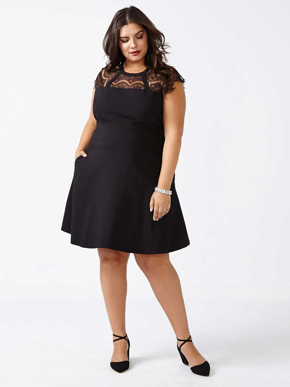 Sleeveless Fit and Flare Dress with Lace