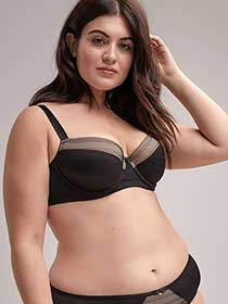 Padded Demi Underwire Bra with Lace - ti Voglio
