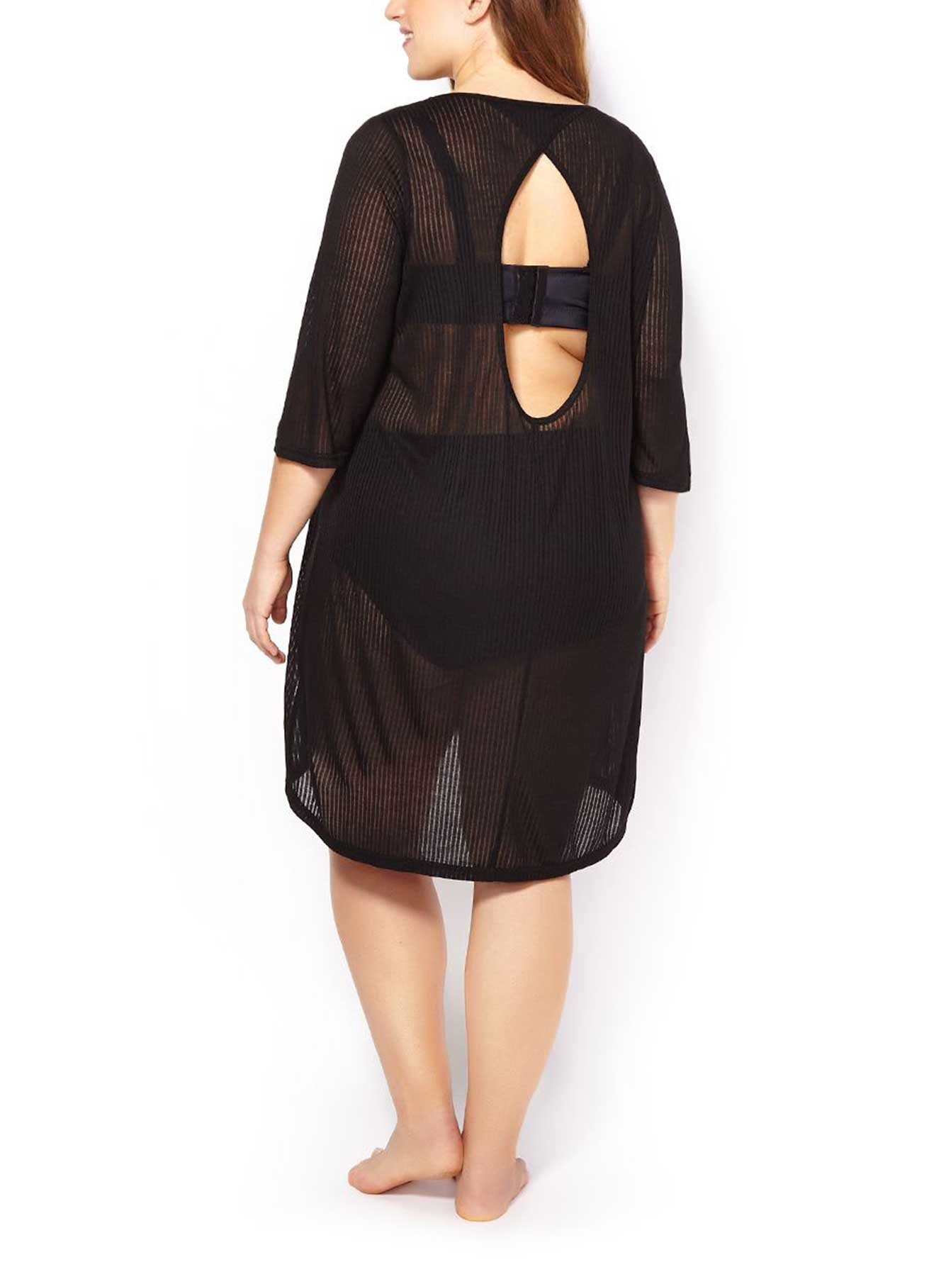 74d4b65c3df Sea - 3 4 Sleeve Textured Swim Cover Up