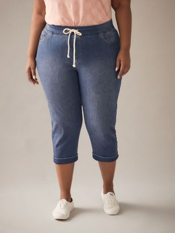 Jogger capri en denim tissé - In Every Story