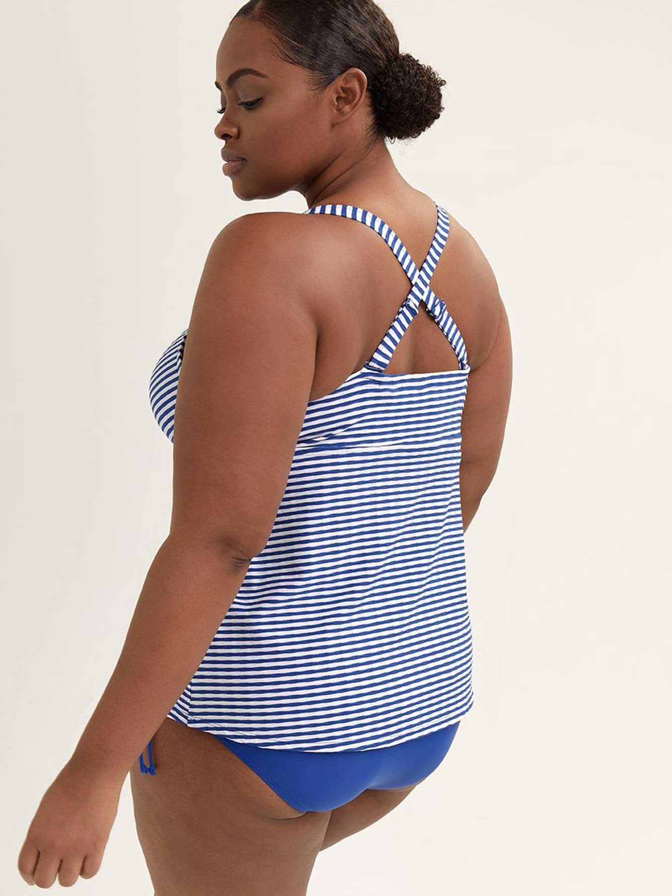 Striped Tankini Swim Top - Sea
