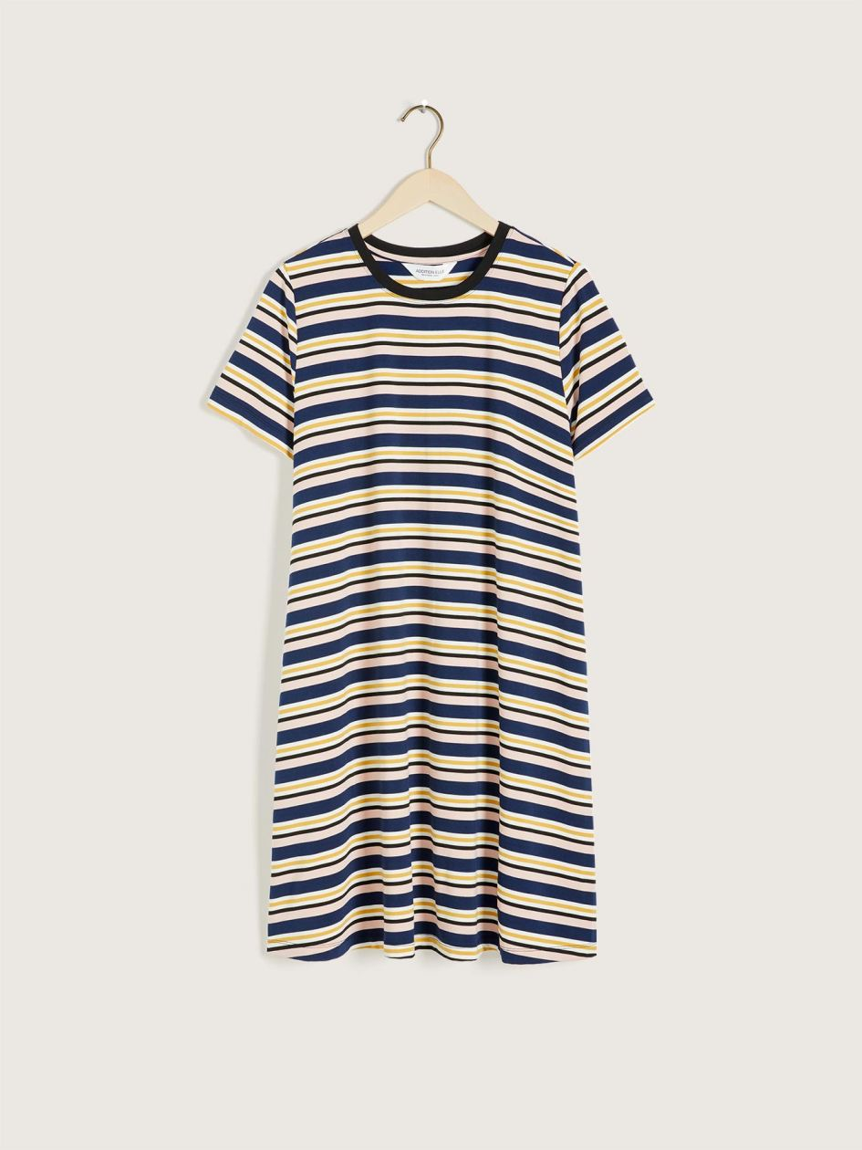 Striped Short A-Line Dress - Addition Elle