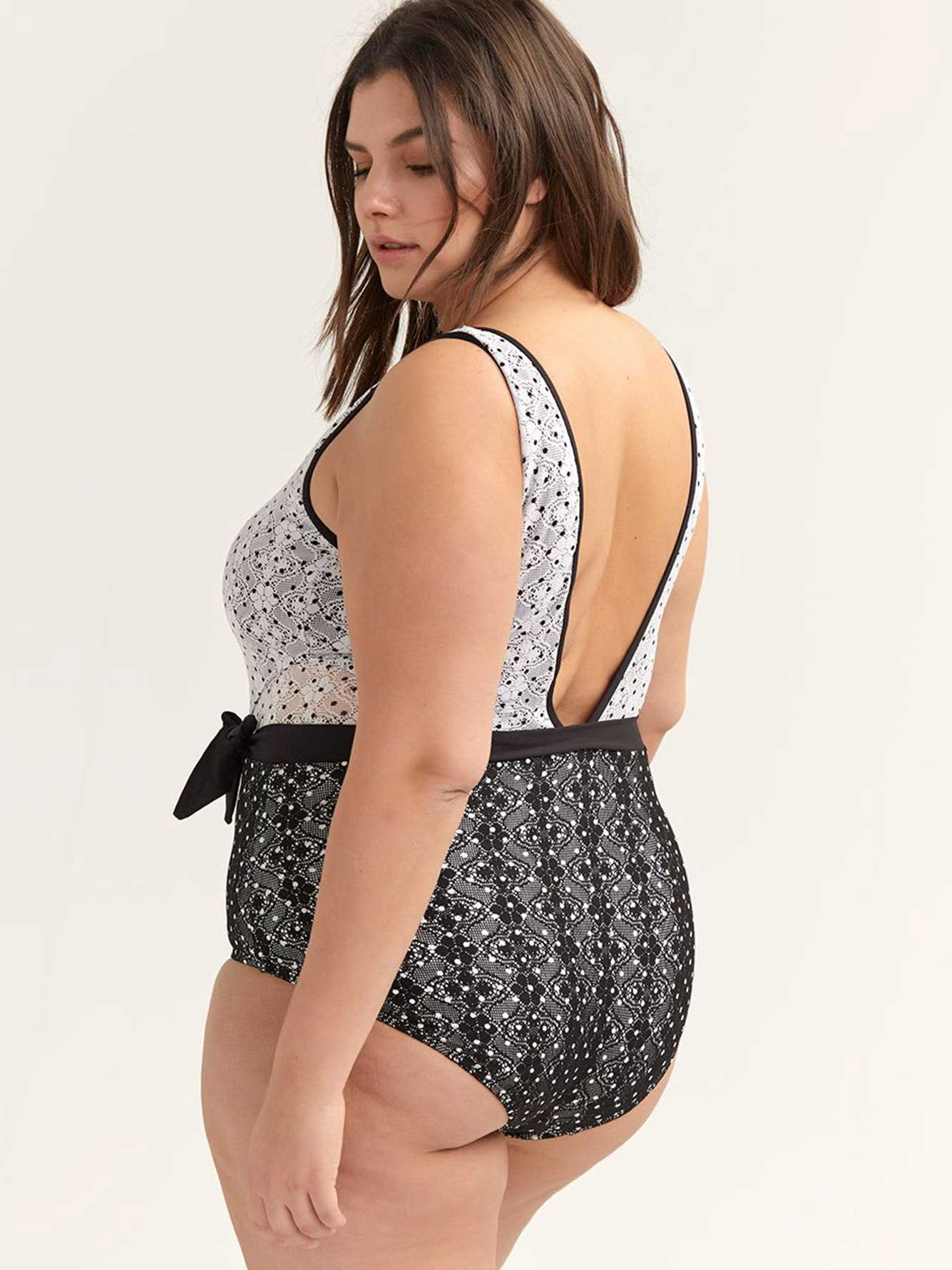 One Piece Swimsuit With Crochet Overlay Anne Cole Penningtons