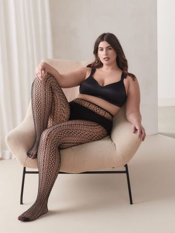 Pointelle Fishnet Tights - Addition Elle