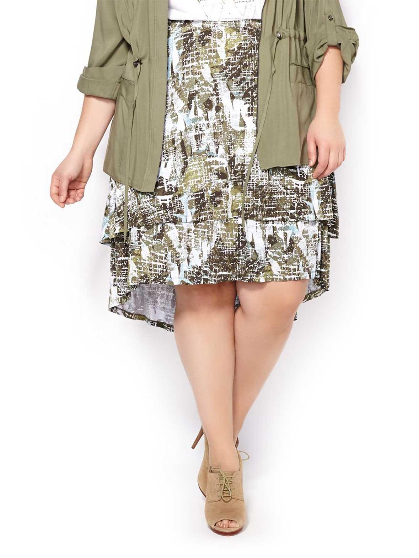 b4e8aff3dc7 Printed Layered Skirt
