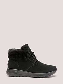 Wide Width Lace-Up Bootie with Faux-Fur - Skechers