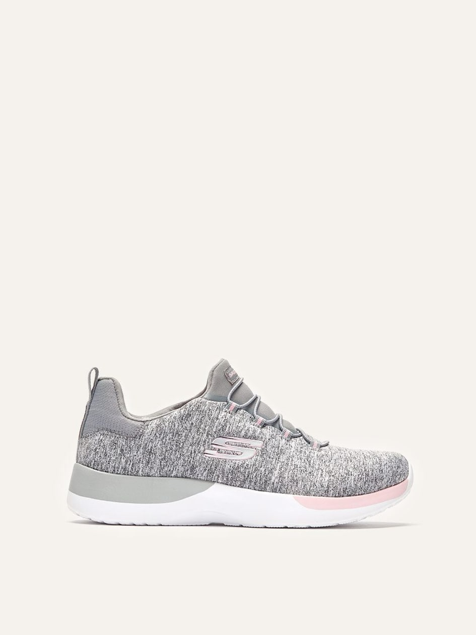 Skechers Dynamight, Break-Through - Wide Width Light Grey Sneakers