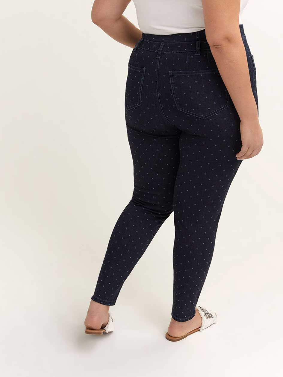 ONLINE ONLY - Tall Printed Slightly Curvy High Waist Skinny Jean - d/C JEANS