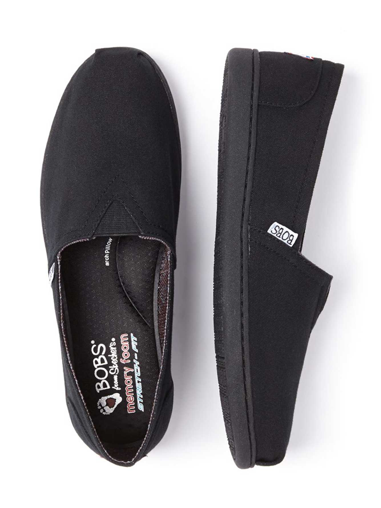 Bobs From Skechers Wide Width Slip On Shoes