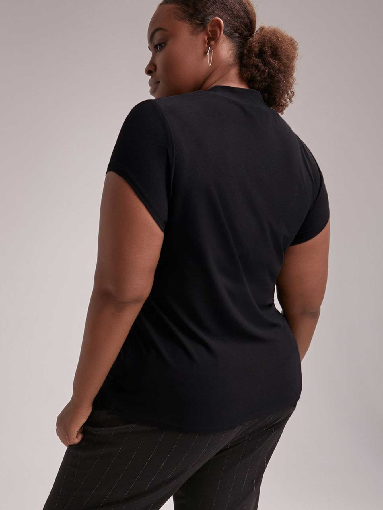 Mock Neck Top with Front Keyhole - In Every Story