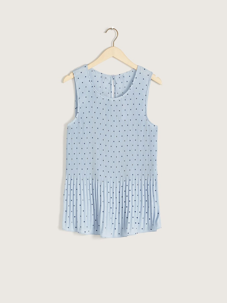 Pleated Swing Tank Top - Addition Elle