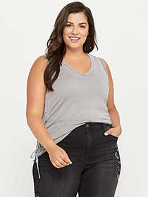 Tank Top with Adjustable Drawstrings - d/C JEANS