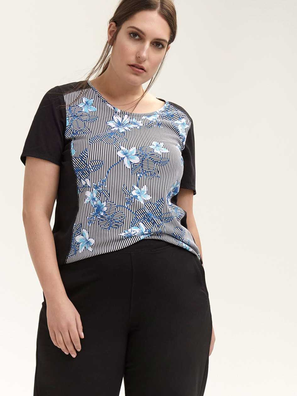 Printed Plus Size Performance T-Shirt - ActiveZone