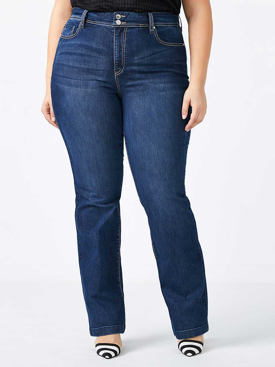 Petite Slightly Curvy Fit Bootcut Jean - d/c JEANS