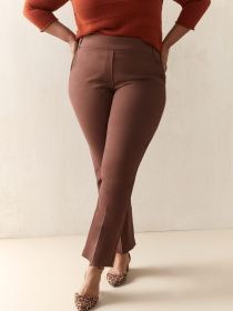 Straight Leg Solid Pant - Addition Elle