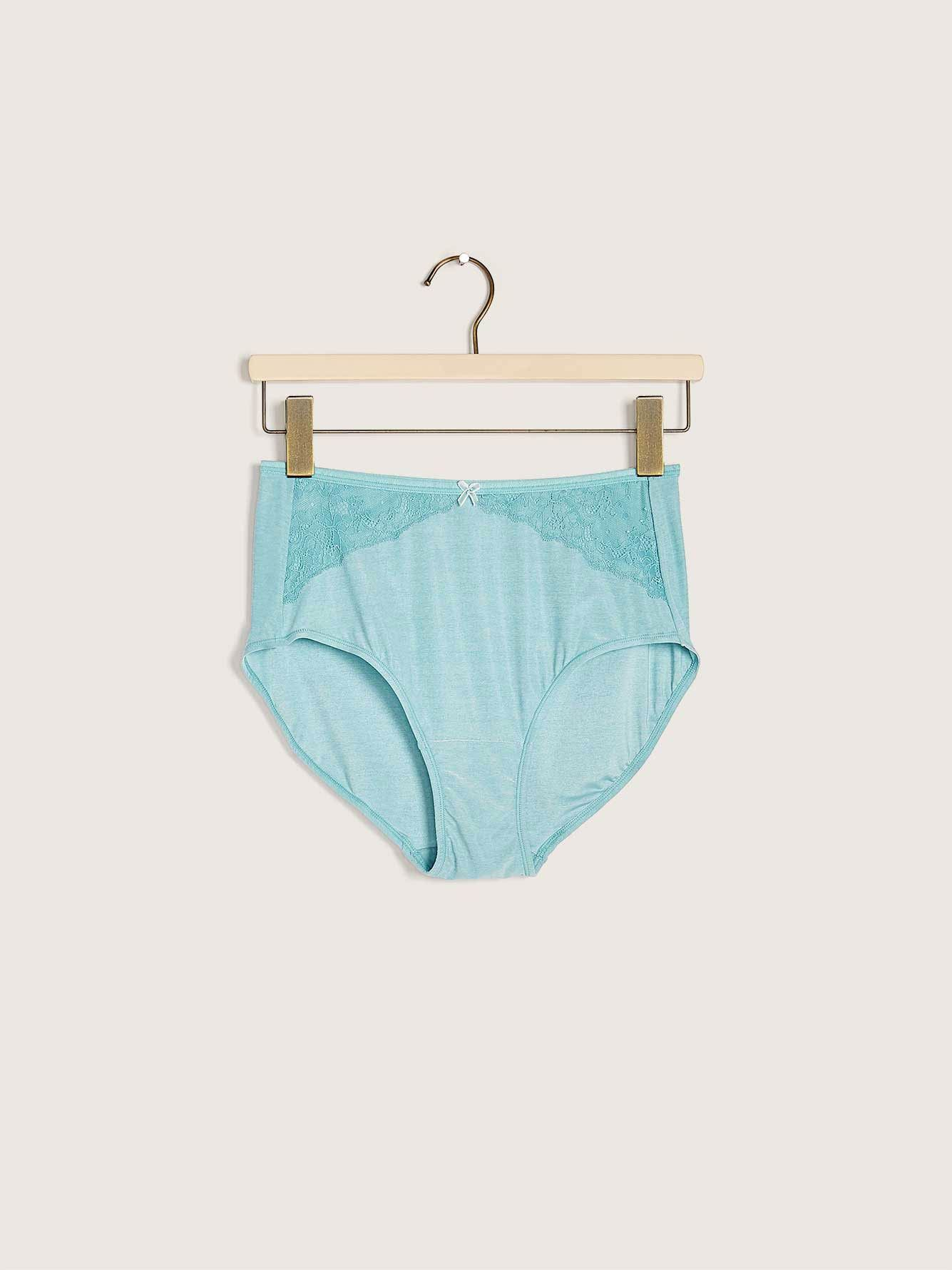 Marled Brief Panty with Lace Trim - ti Voglio