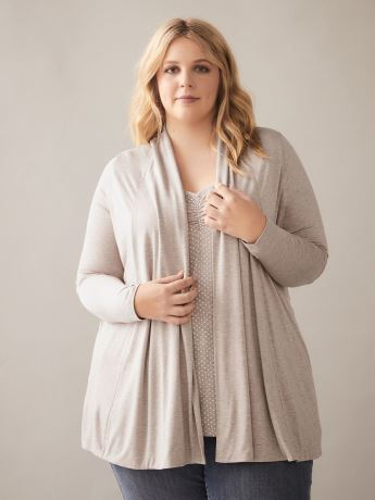Cascade Front Edge To Edge Cardigan - In Every Story