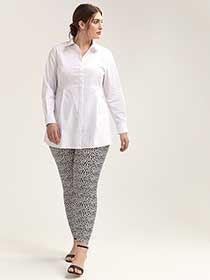 Textured Legging with Heart Motif