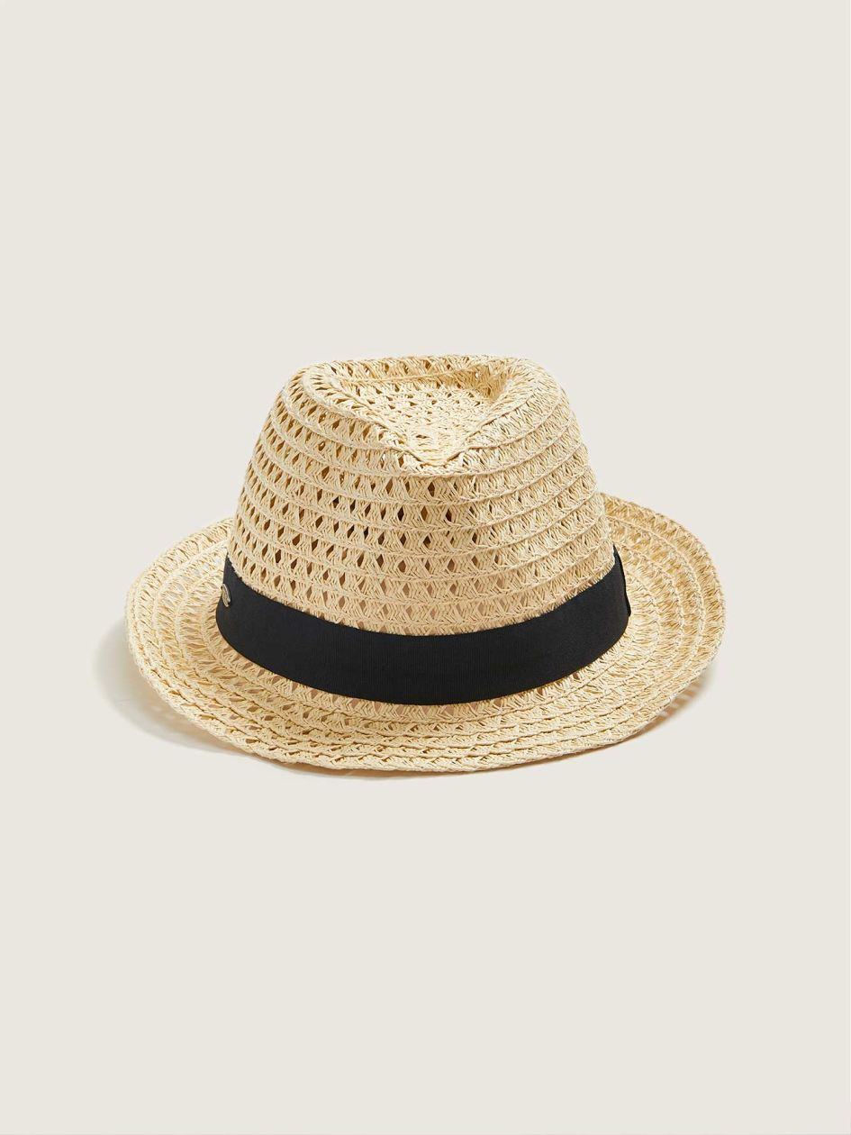 Straw Fedora With Ribbon - Canadian Hat